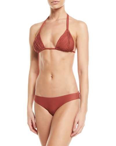Isla Braided Triangle Bikini Swim Top and Matching Items