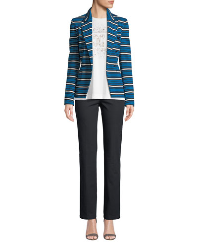 Striped Double-Breasted Jacket and Matching Items