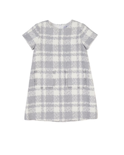 Boucle Plaid Dress w/ Fringe Pockets, Size 4-6X and Matching Items