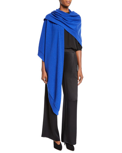 Silk Crepe Pleated-Waist Wide-Leg Pants and Matching Items