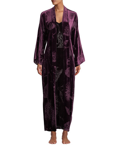 Faberge Velvet Long Robe and Matching Items