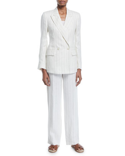 Riona Linen Pinstripe Jacket and Matching Items