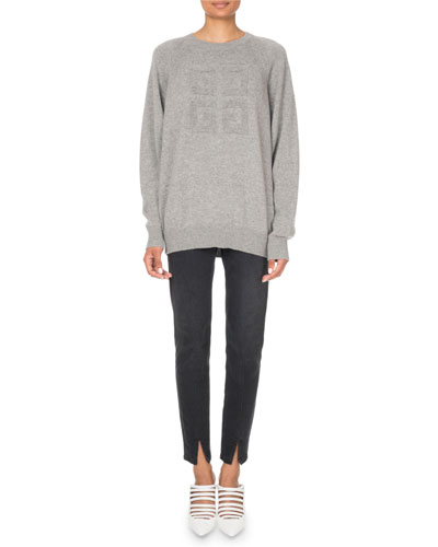 Cashmere Logo-Jacquard Crewneck Sweater and Matching Items