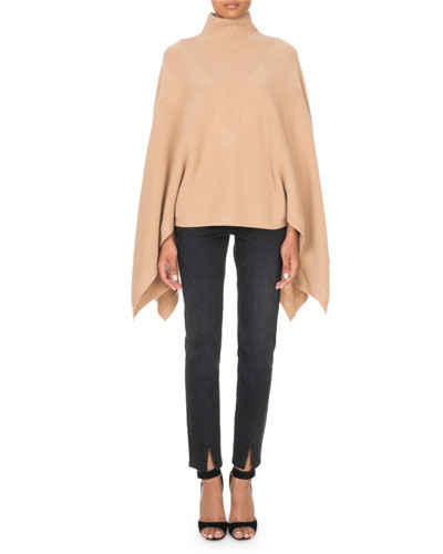 Cashmere Turtleneck Cape-Sleeve Sweater and Matching Items