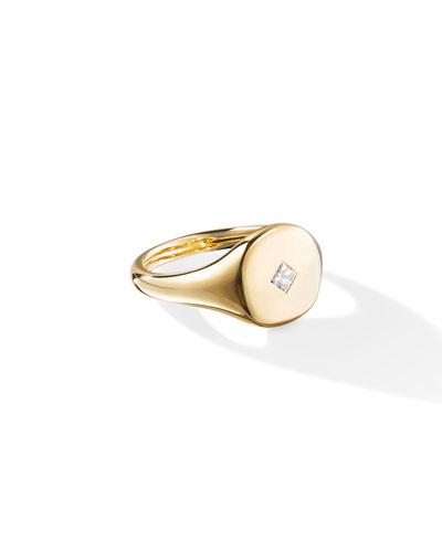 18k Gold Princess-Cut Diamond Pinky Ring, Size 2.5 and Matching Items