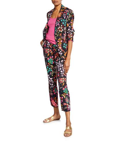 Paisley-Print Blazer Jacket and Matching Items