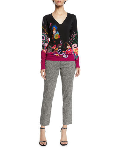 V-Neck Paisley Sweater and Matching Items