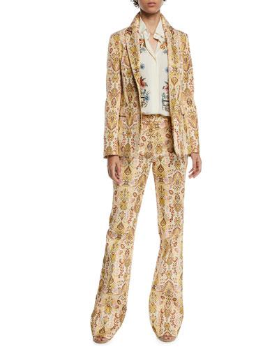 Paisley Jacquard Blazer Jacket and Matching Items