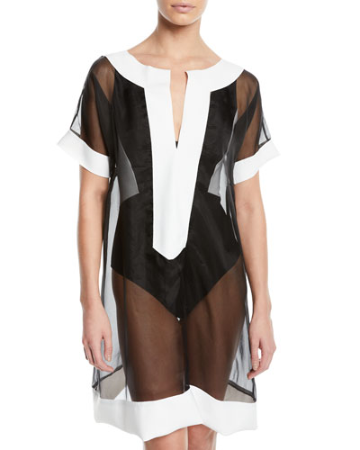 Zaida Sheer Organza Coverup Tunic and Matching Items