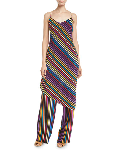 Asymmetric Striped Strappy Tunic and Matching Items