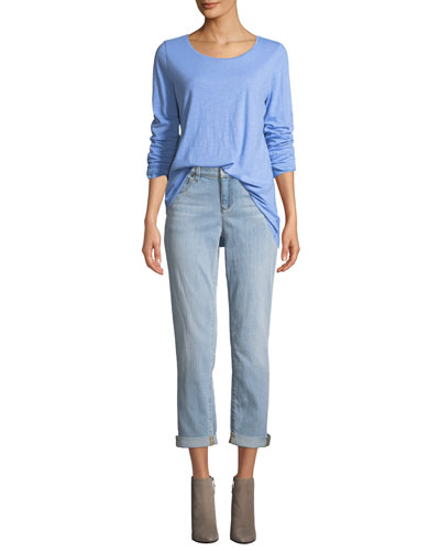 Slub Long-Sleeve Tunic Tee and Matching Items