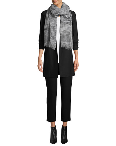 Open-Front Long-Sleeve Stretch Crepe Jacket and Matching Items