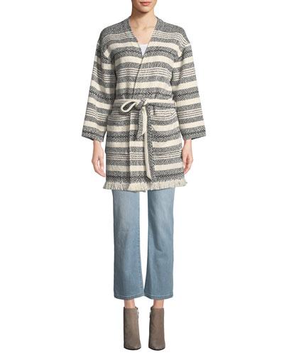 High-Waist Boot-Cut Organic Cotton Denim Jeans and Matching Items