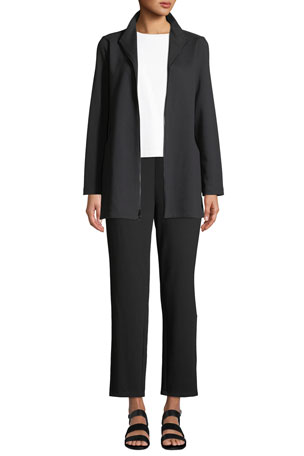 Eileen Fisher Travel Ponte Zip-Front Jacket Travel Ponte Ankle Pants