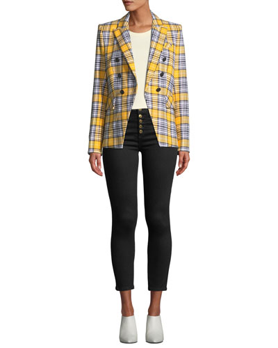 Miller Plaid Double-Breasted Dickey Jacket and Matching Items