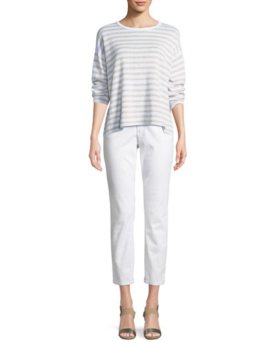 Striped Organic Linen Knit Sweater and Matching Items