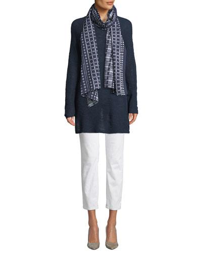 Linen Cotton Slub Tunic Sweater and Matching Items