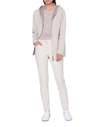 Vanda Reversible Zip-Front Wool-Cashmere Hoodie and Matching Items