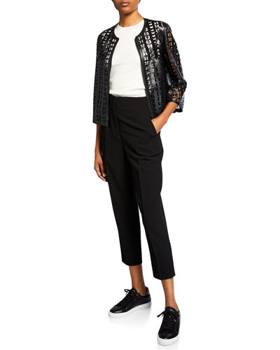 Audrey Laser Cut Leather Jacket and Matching Items