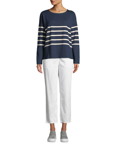Long-Sleeve French Stripe Tee and Matching Items