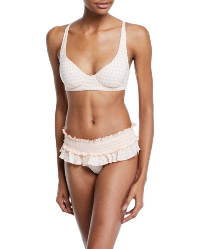 Gingham Underwire Bikini Swim Top and Matching Items