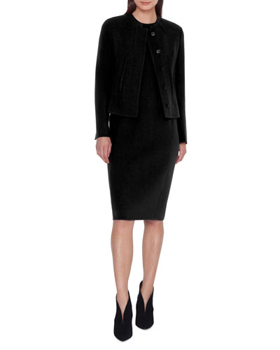 Abadin Round Neck Short Waist Jacket and Matching Items