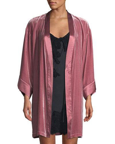 Dany Velour Short Robe and Matching Items