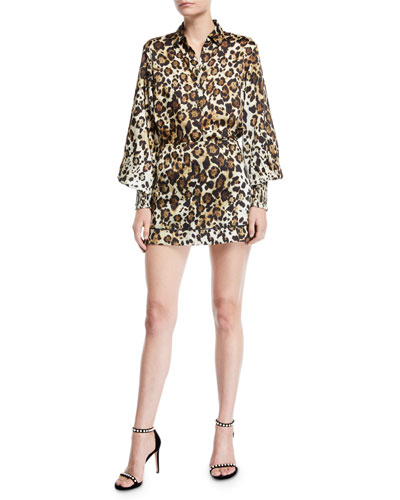 Romana Leopard-Print Button-Down Top and Matching Items