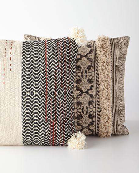 Half & Half Pompom Pillow