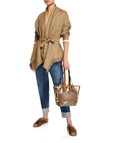 Mid-Rise Relaxed Straight-Leg Jeans and Matching Items