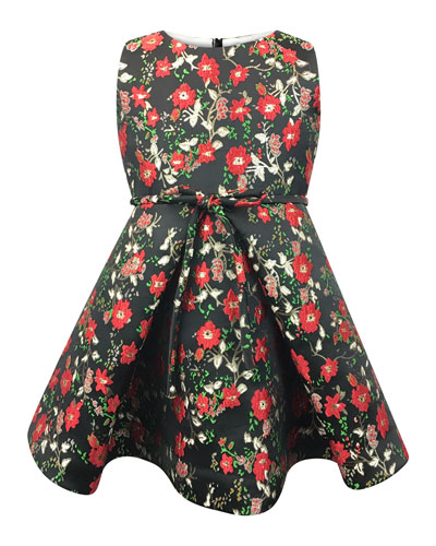 Sleeveless Floral Jacquard Dress  Size 12-18 Months  and Matching Items