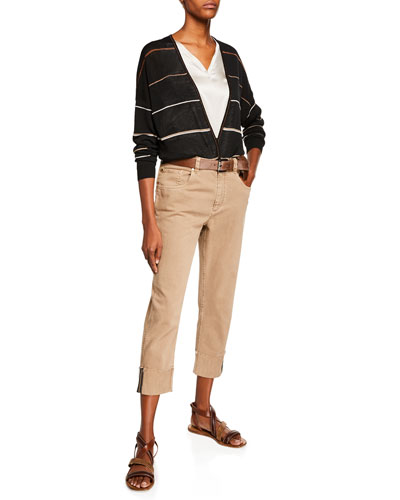 Monili-Trimmed Straight-Leg Jeans and Matching Items