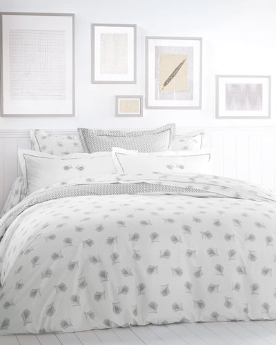 Plume Gris Embroidered 200 Thread-Count Euro Sham and Matching Items