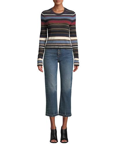 Palmas Striped Metallic Cropped Sweater and Matching Items