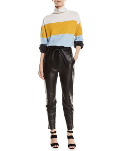 Faber Cashmere Turtleneck Colorblock Sweater and Matching Items