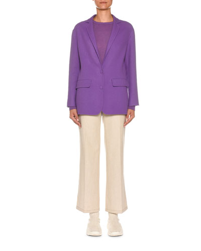 Crewneck Long-Sleeve Cashmere-Blend Sweater and Matching Items