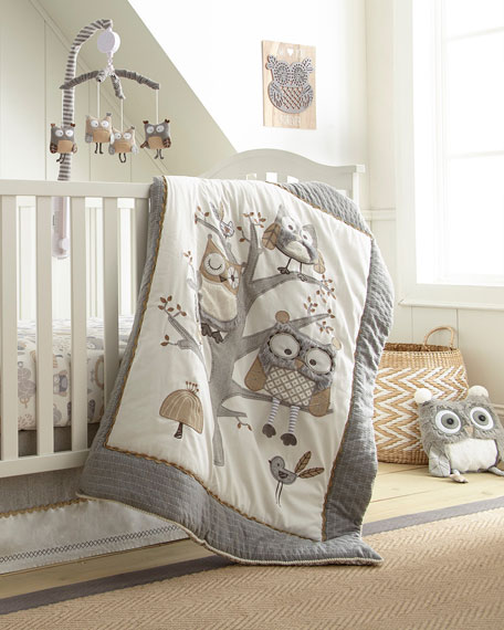 Night Owl 5-Piece Crib Bedding Set