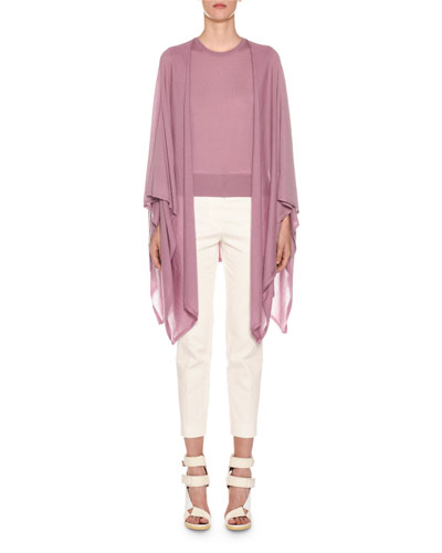 Cotton Crepe Slim Tapered-Leg Trousers and Matching Items