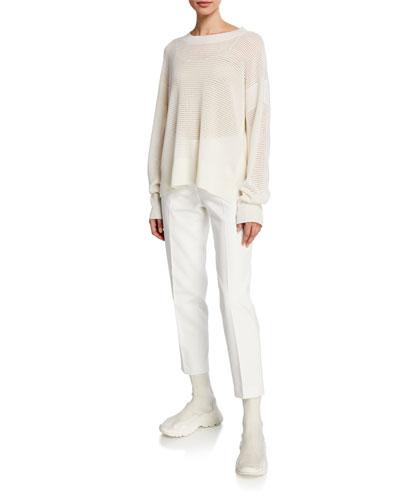 Cashmere Net-Stitch Yarn Sweater and Matching Items