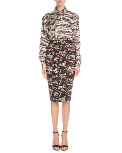 Printed Knee-Length Pencil Skirt and Matching Items