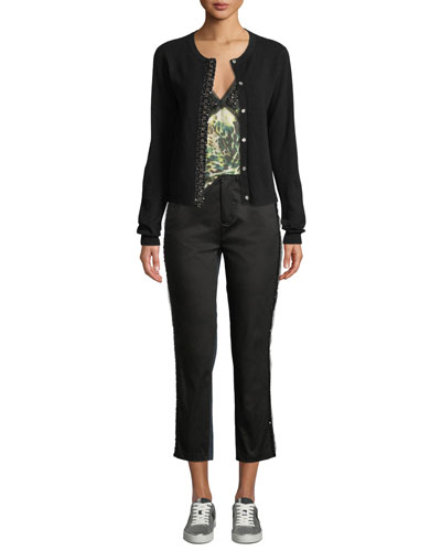 Back In Black Embellished Cashmere Cardigan and Matching Items