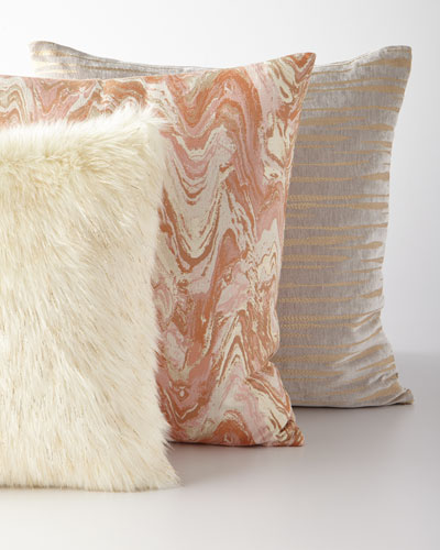 Malta Marbleized Pillow  and Matching Items