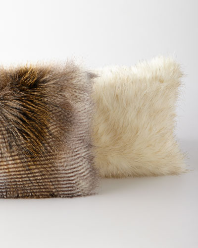 Glamour Faux-Fur Bolster Pillow  and Matching Items