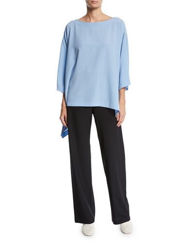 Lightweight Crepe Cascading-Side Tunic and Matching Items