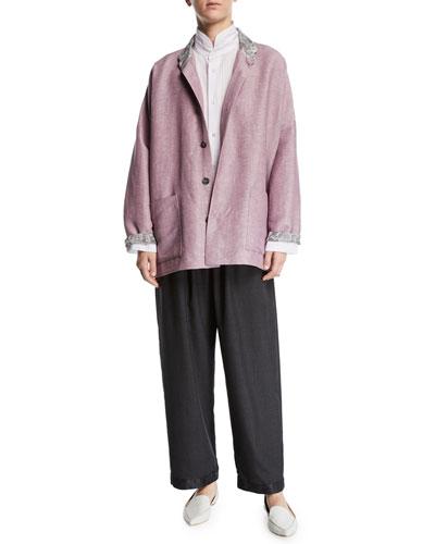 Lightweight Linen-Wool Jacket and Matching Items