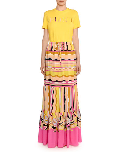 Guanabana-Print Tiered Maxi Skirt and Matching Items