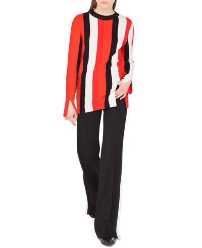 Herringbone Stripe Merino Pullover Sweater and Matching Items