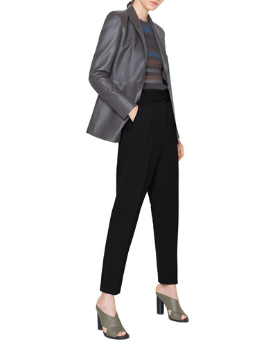 Perforated Leather Blazer Jacket and Matching Items