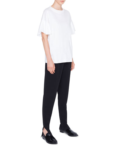 Flutter-Sleeve Cotton T-Shirt and Matching Items