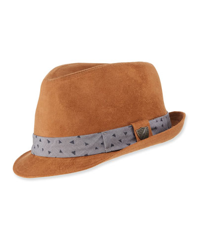 Boys' Sueded Fedora Hat  and Matching Items